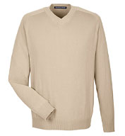 Custom Devon & Jones Mens V-Neck Sweater