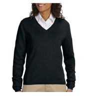 Custom Devon & Jones Ladies V-Neck Sweater