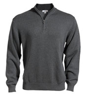 Custom Edwards® Mens Quarter-Zip Jersey Knit Sweater