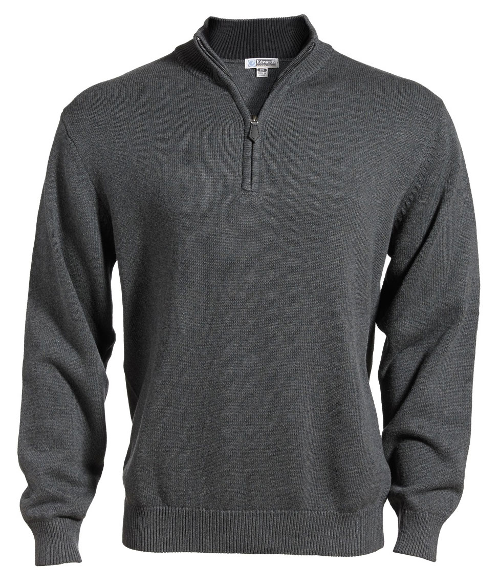Edwards® Mens Quarter-Zip Jersey Knit Sweater