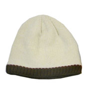 Knit Beanie Cap with Fleece Ear Lining