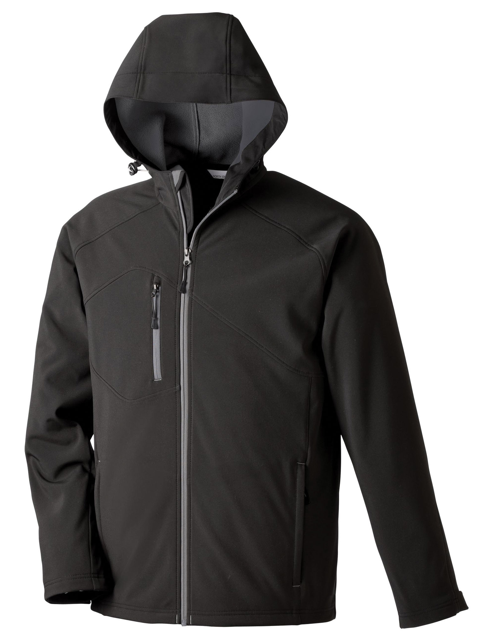 North End Mens Prospect Soft Shell Hooded Jacket