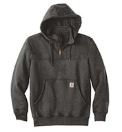 Custom Carhartt Mens Rain Defender Paxton Heavyweight Hooded Zip Mock Sweatshirt