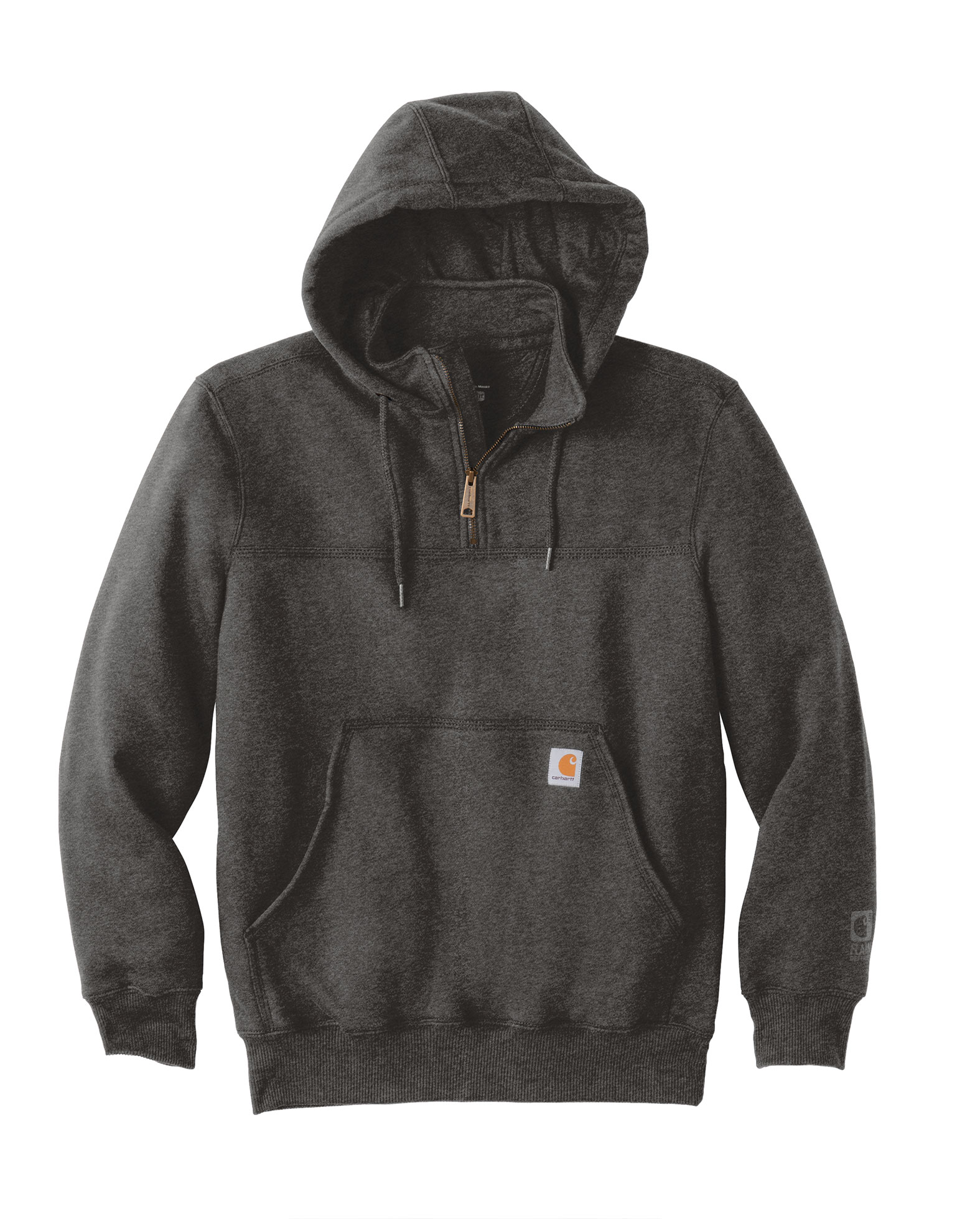 Carhartt Mens Rain Defender Paxton Heavyweight Hooded Zip Mock Sweatshirt