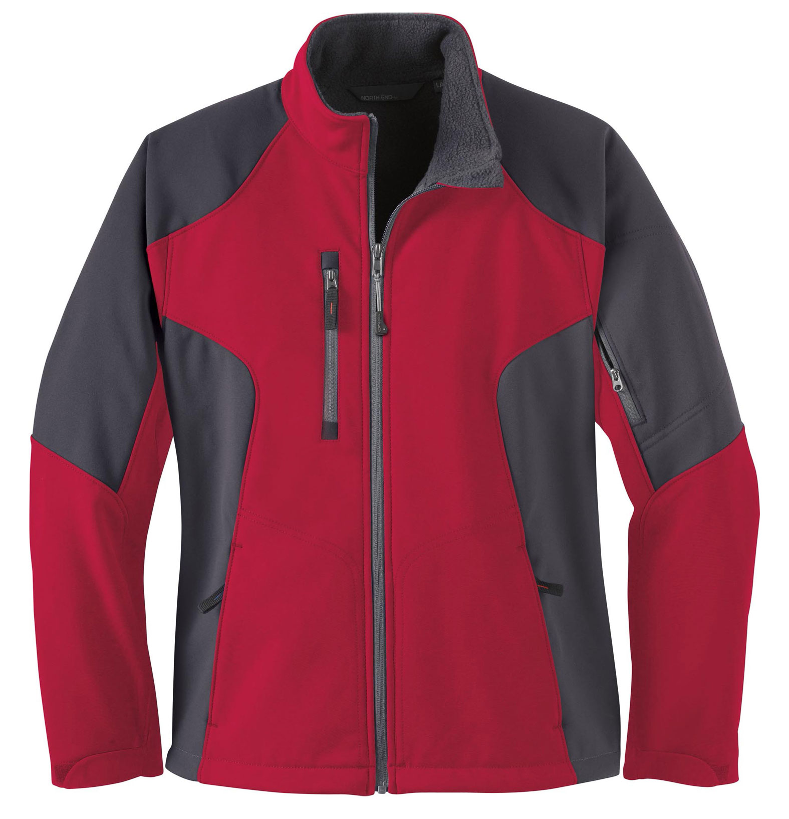 North End Ladies Compass Colorblock Soft Shell Jacket