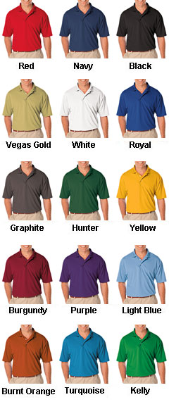 Mens Moisture Wicking Polo - All Colors