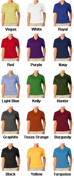 Ladies Moisture Wicking Polo  - All Colors