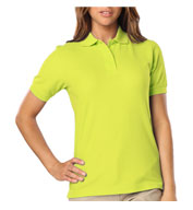 Custom Blue Generation Ladies Hi-Visibility Pique Polo