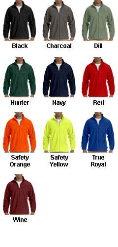 Mens 8 oz. Full-Zip Fleece Jacket - All Colors