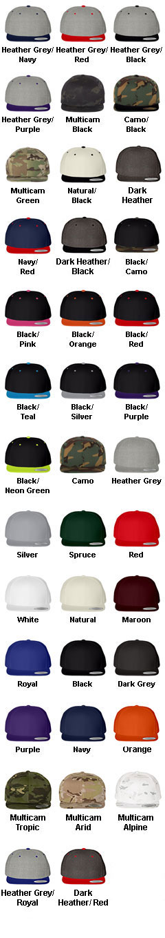 Classic Snapback Cap by Yupoong - All Colors