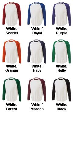 Doubleplay Long Sleeve Baseball T-shirt - All Colors