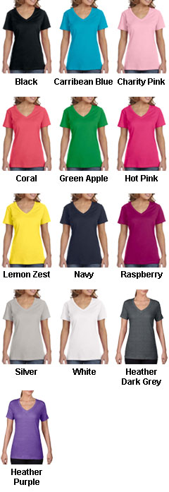 Anvil Ladies Sheer V-Neck T-Shirt - All Colors
