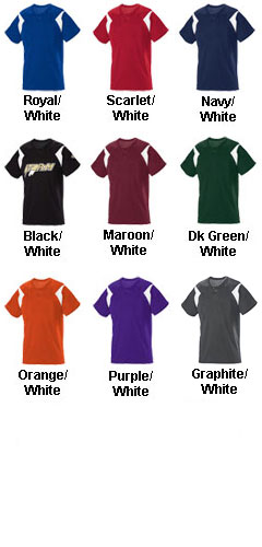 Youth Pickoff Two-Button Baseball Jersey - All Colors