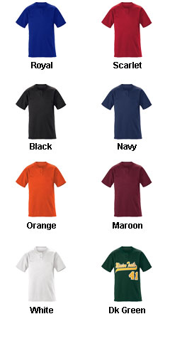 Youth Slugger Solid 2-Button Baseball Jersey - All Colors