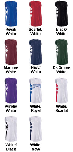 Womens Supernova Sleeveless Faux Full Button Softball Jersey - All Colors