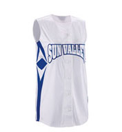 Custom Youth Girls Supernova Sleeveless Faux Full Button Softball Jersey