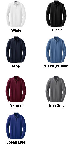 Long Sleeve EZCotton™ Pique Polo - All Colors