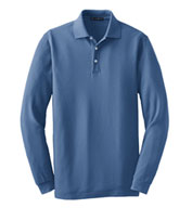 Custom Long Sleeve EZCotton™ Pique Polo Mens