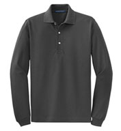 Custom Port Authority® Mens Rapid Dry™ Long Sleeve Polo