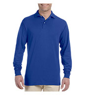 Custom Jerzees Adult SpotShield™ Long-Sleeve Jersey Polo