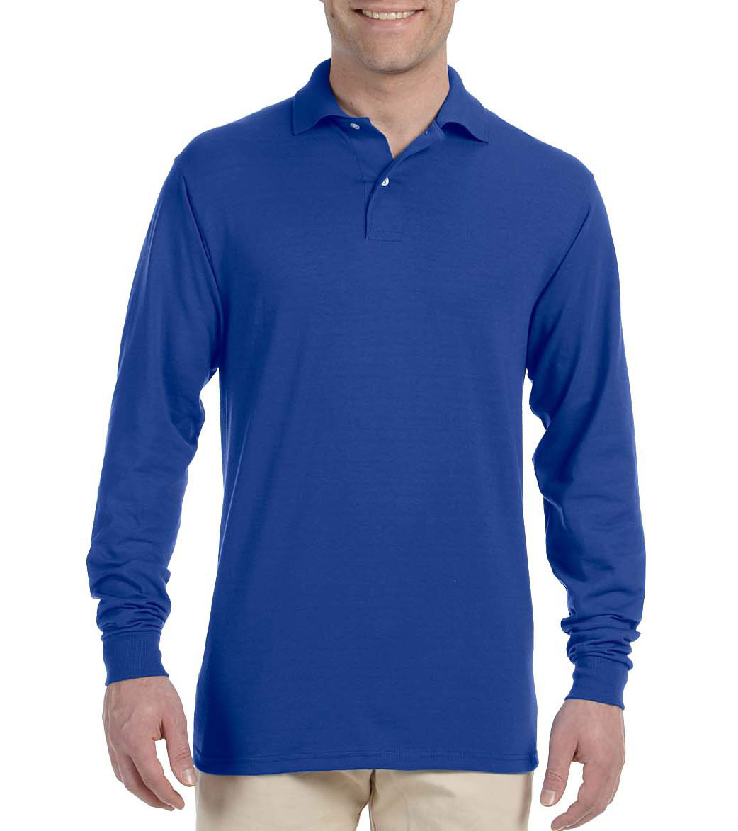 4eb031ed1bb Custom Jerzees Mens Long-Sleeve 50/50 Jersey Knit Polo with SpotShield™