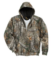 Custom Carhartt Mens Midweight Camo Hooded Zip-Front Sweatshirt