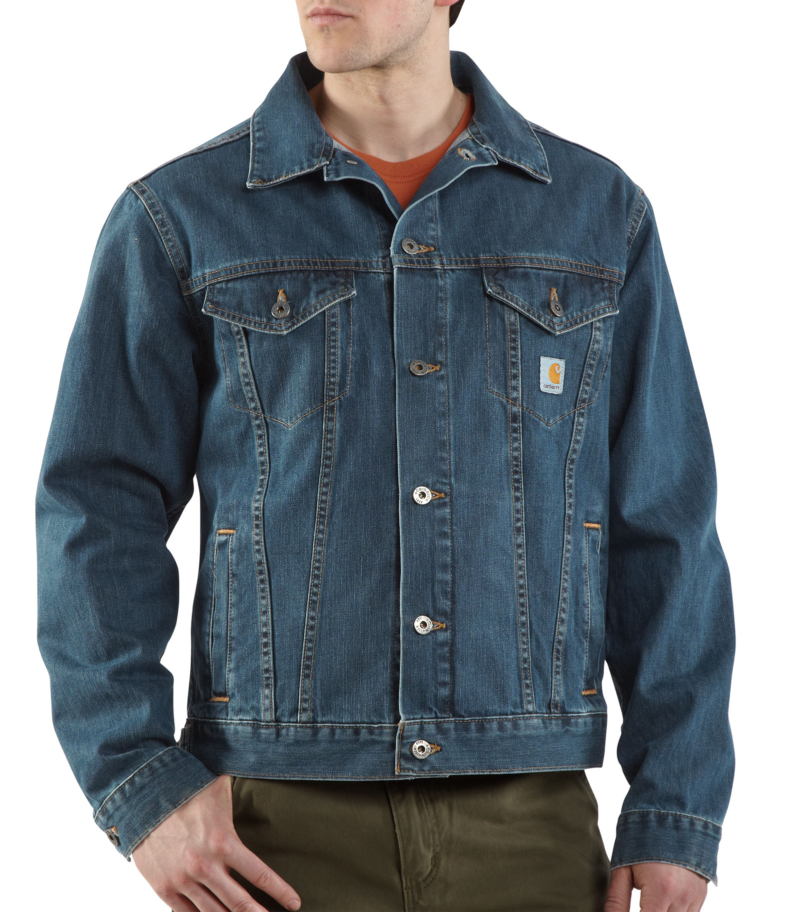 Carhartt Mens Denim Jean Jacket/Unlined