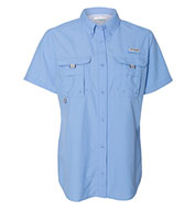 Custom Columbia Womens Bahama™ Short Sleeve Fishing Shirt
