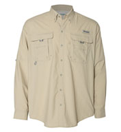 Custom Columbia Bahama™ II Mens Long Sleeve Fishing Shirt