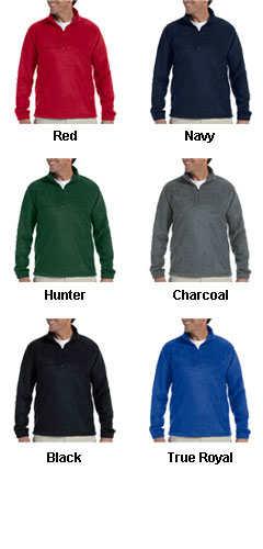 Harriton Adult  8 oz Quarter Zip Fleece - All Colors
