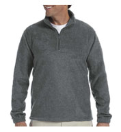Custom Harriton Adult 8 oz Quarter Zip Fleece