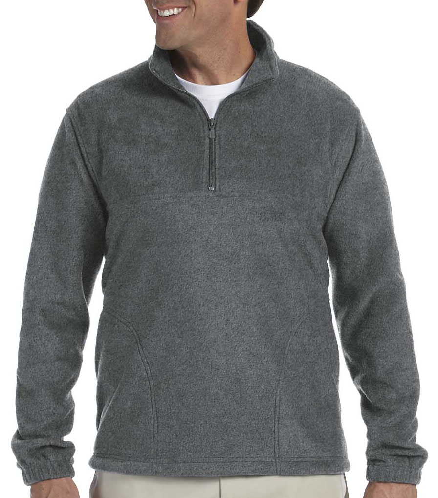 Harriton Adult  8 oz Quarter Zip Fleece
