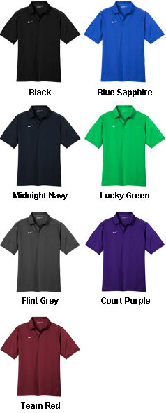 Nike Golf Mens Dri-FIT Sport Swoosh Pique Polo - All Colors
