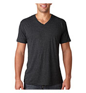 Custom Next Level Mens Tri-Blend V-Neck Tee