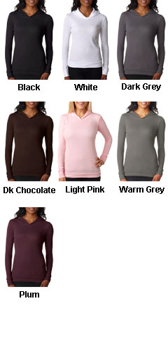 Next Level Ladies Soft Thermal Poly/Cotton Hoodie - All Colors