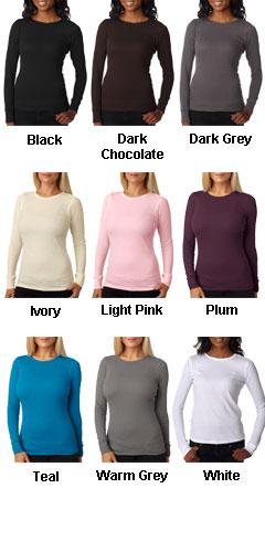 Next Level Ladies Soft Long-Sleeve Poly/Cotton Thermal  Tees - All Colors