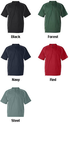 Rawlings Short Sleeve 1/4 Zip Pullover - All Colors