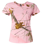 Custom Ladies Realtree Camouflage T-Shirt by Code V
