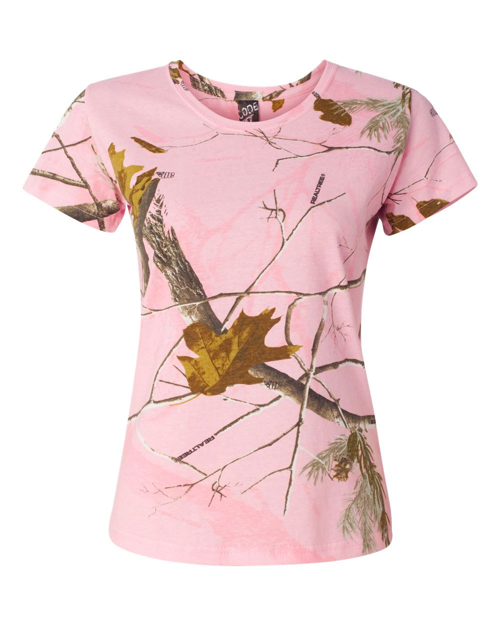 Code V Ladies Realtree Camouflage T-Shirt