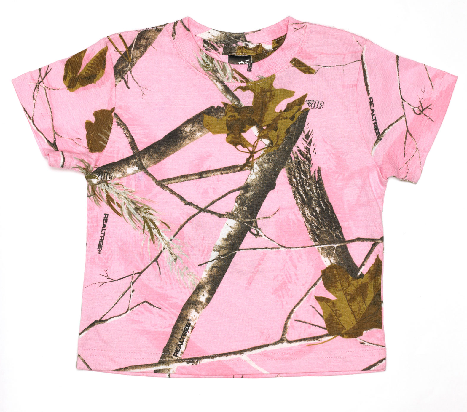 Custom Realtree Toddler Camouflage Short Sleeve T Shirt By