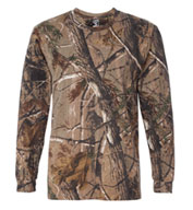 Custom Officially Licensed RealTree® Long Sleeve Camouflage T-shirt by Code V
