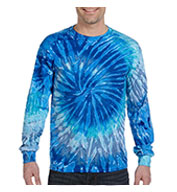 Custom 100% Cotton Long-Sleeve Tie-dyed T-shirt