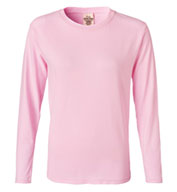 Custom Pigment-Dyed Ladies Long Sleeve T-shirt