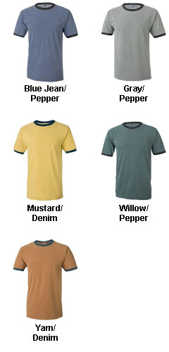 Pigment-Dyed Enzyme Washed Ringer T-Shirt - All Colors