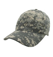 Custom Digital Camo Cap with Adjustable Hook and Loop Back