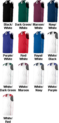 Youth Wicking Mesh/Dazzle Basketball Game Jersey in Home and Away Colors - All Colors