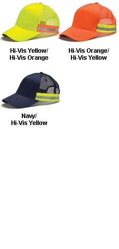 Adams ANSI Snap Back Trucker Reflective Cap - All Colors