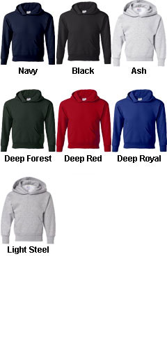 Hanes ComfortBlend® EcoSmart® Youth Hooded Sweatshirt - All Colors