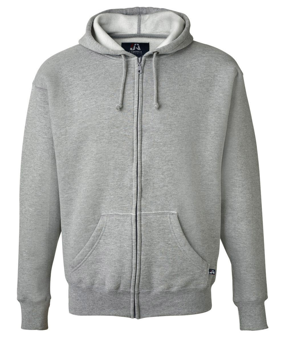 J. America Premium Mens Full Zip Hooded Sweatshirt