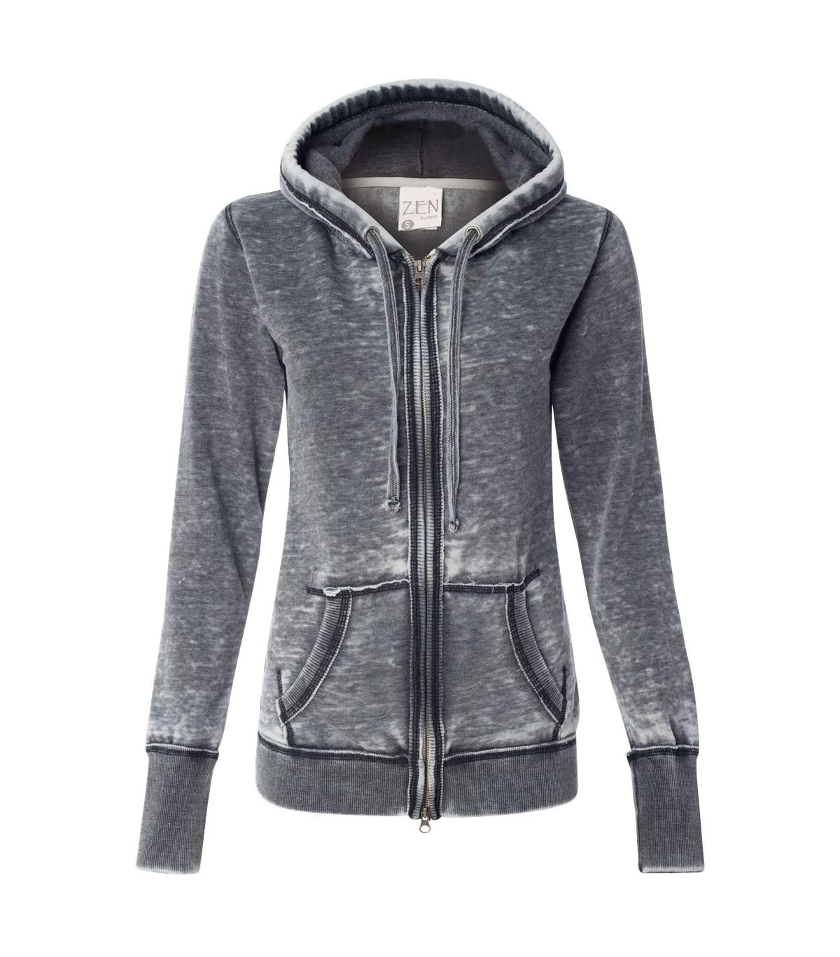 J. America Ladies Zen Fleece Hooded Sweatshirt